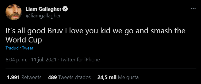 Liam Gallagher y Dua Lipa