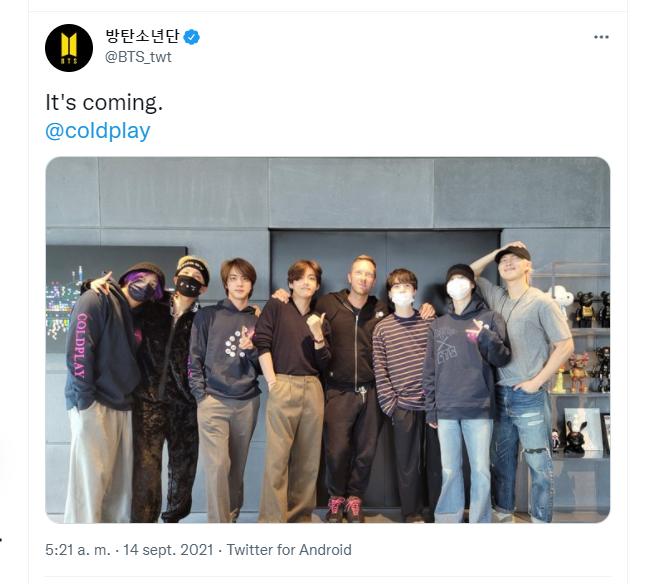 BTS Vía Twitter