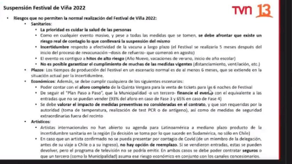 festival de la cancion de viña del mar cancelado pospone pospuesto segundo año consecutivo evento region de valparaiso concierto musica chilena internacional municipalidad